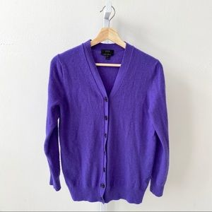 J.Crew V-Neck Cardigan Sweater Wool Cashmere Blend